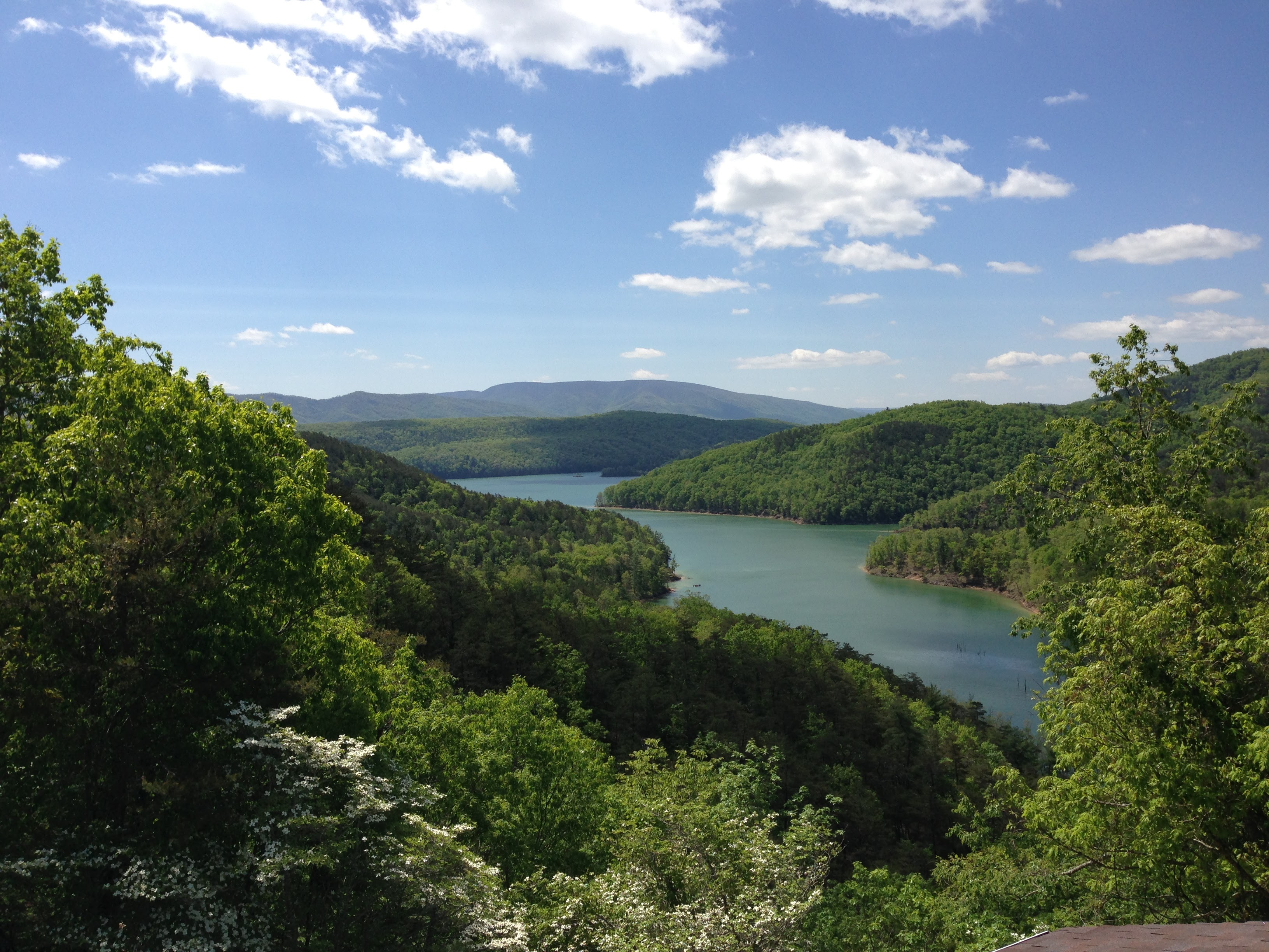 Lake Moomaw from Stoney Bottom Lodge